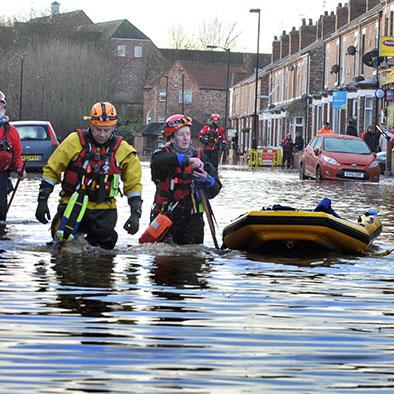 York floods rescue